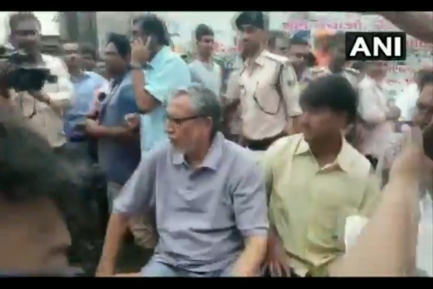 Watch: Bihar Dy CM Sushil Modi, Stranded Due to Floods, Rescued On Boat