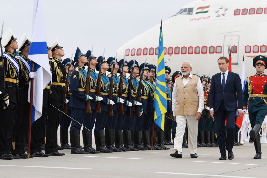 PM Modi Arrives In Russia On 2-Day Visit