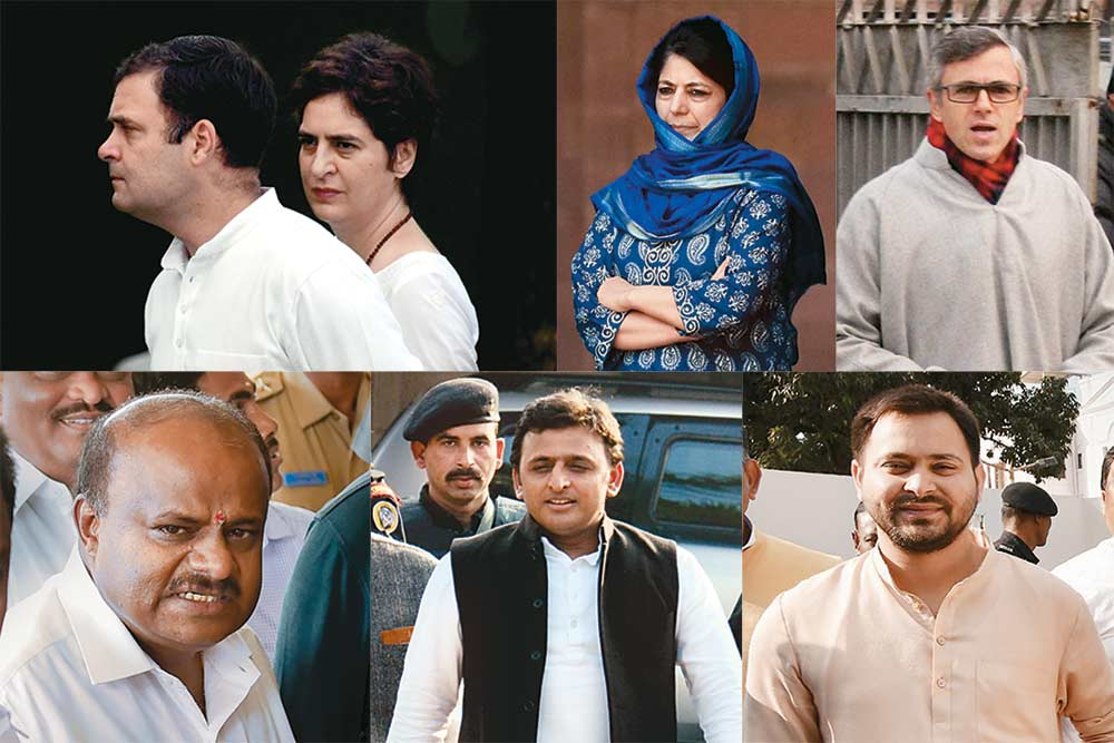 Future Tense -- Rahul, Priyanka, Akhilesh, Tejashwi In No Mood To Rebuild Their Parties