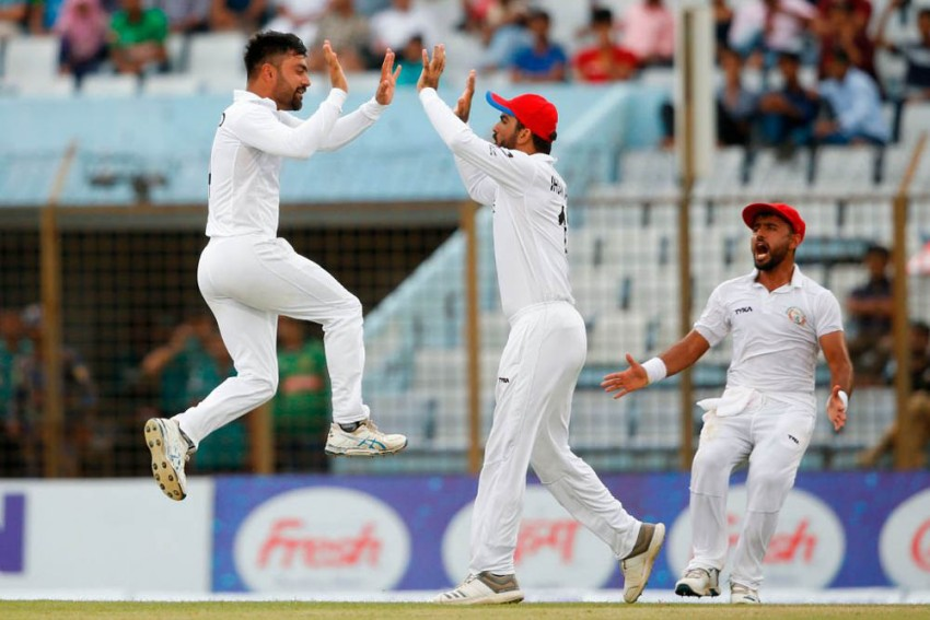 Rashid Khan Spins Out Bangladesh, Afghanistan Script Maiden Test Win