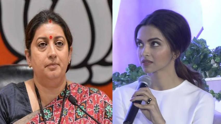 'Stood With People Who Say <em>Bharat Tere Tukde Honge</em>': Smriti Irani Slams Deepika Padukone