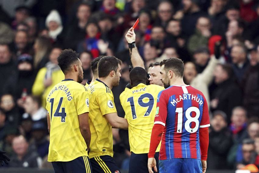 EPL | Crystal Palace 1-1 Arsenal: Pierre-Emerick Aubameyang Scores And Sees Red