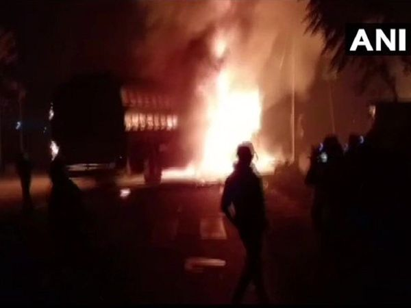 20 Feared Dead, Several Injured As Bus Catches Fire In Uttar Pradesh