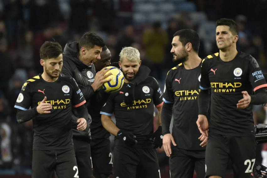 EPL: Aston Villa 1-6 Manchester City: Sergio Aguero Set Two Records On Danny Drinkwater's Disastrous Ddebut