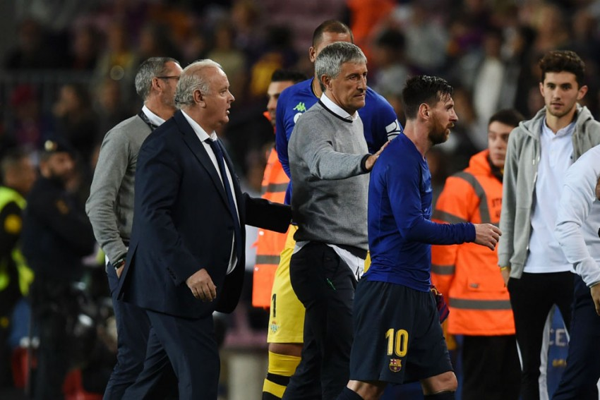 Quique Setien Not Afraid To Be Direct With Lionel Messi, Barcelona Squad