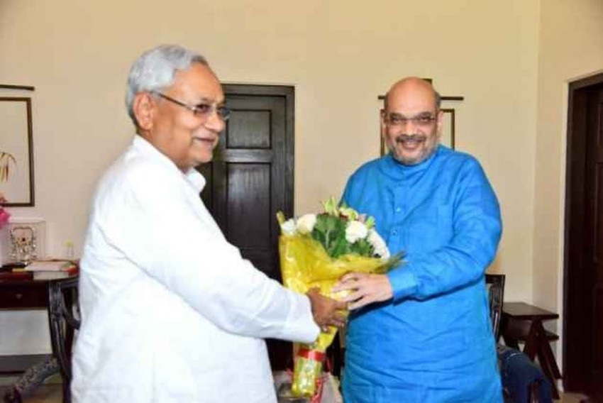 Despite JD(U)'s Opposition To NRC, Amit Shah Says 'Will Contest Bihar Polls Under Nitish Kumar's Leadership'