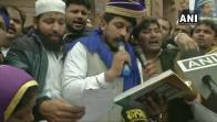 Hours After Release, Chandra Shekhar Azad Reads Preamble To Constitution At Jama Masjid