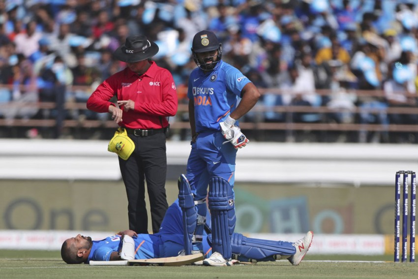 IND Vs AUS: Nasty Pat Cummins Delivery Floors Shikhar Dhawan, But Indian Opener Goes Onto Score Majestic 96
