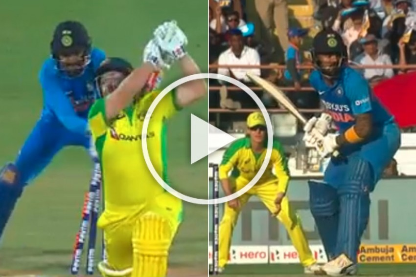 IND Vs AUS, 2nd ODI: Watch Problem Solver KL Rahul's Unmissable Finishing Act And Lightning Quick Stumping - VIDEOS
