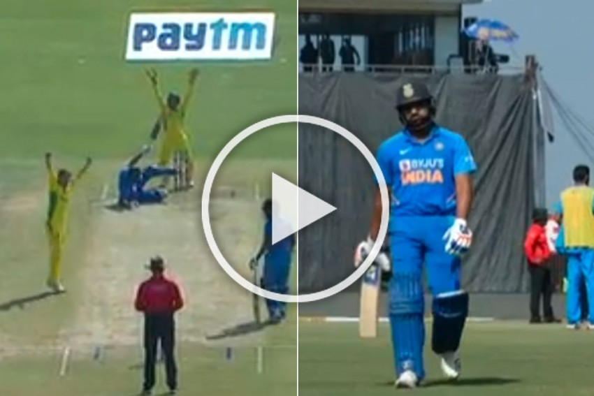 IND Vs AUS: 'Tumbling' Rohit Sharma Misses Out On Major Landmark By Just A Hit - WATCH