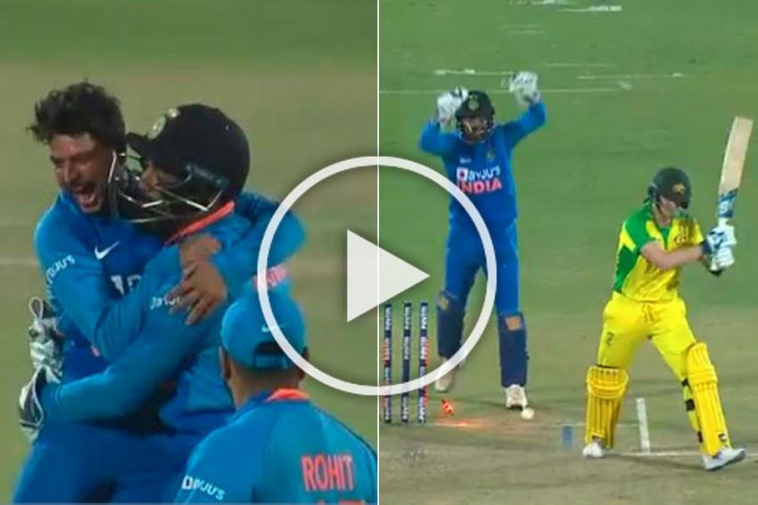 IND Vs AUS, 2nd ODI: Kuldeep Yadav Leaves Steve Smith  Swinging His Bat In Anger - WATCH