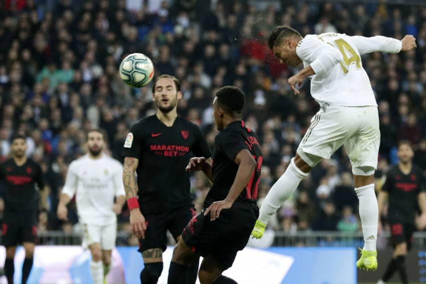 La Liga | Real Madrid 2-1 Sevilla: Casemiro Double Frustrates Julen Lopetegui