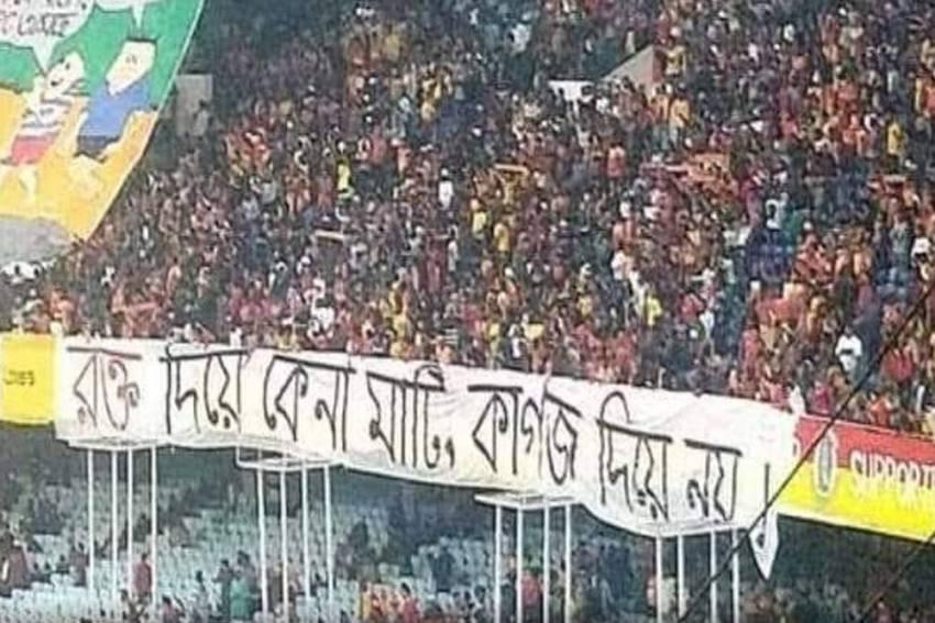 I-League, Mohun Bagan Vs East Bengal: Fans Hold Anti-CAA, NRC Protest During Kolkata Derby