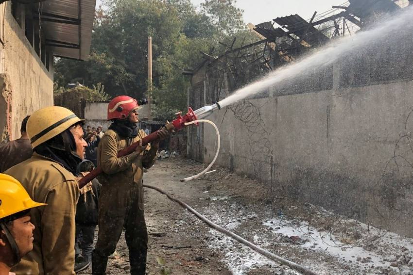 Factory In Delhi's Peera Garhi Collapses After Fire, One Firefighter Dies