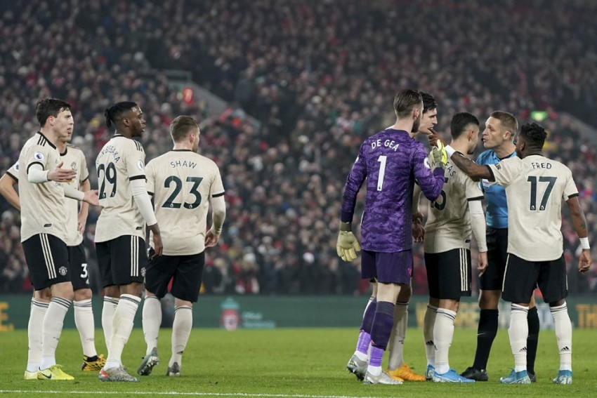 EPL: Manchester United Charged For Failing To Control Their Players In Liverpool Defeat