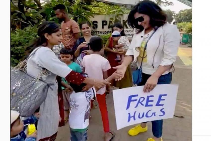 Richa Chadha Spreads Joy On National Hug Day