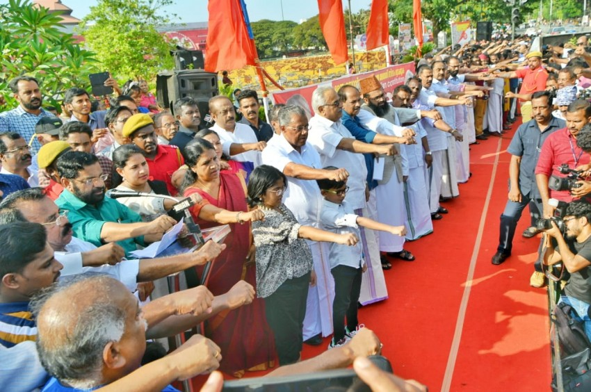 Kerala Forms 620 Km Human Chain Against CAA, NRC On Republic Day