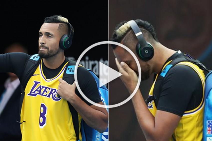 Australian Open: Nick Kyrgios Warms Up In Kobe Bryant's LA Lakers Jersey Before Rafael Nadal Clash - WATCH