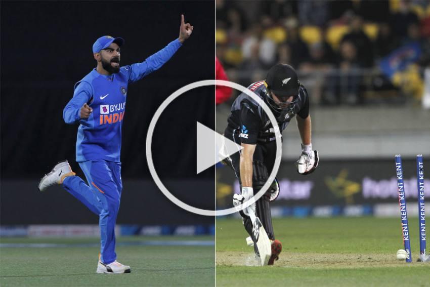 NZ Vs IND, 4th T20I: Fantastic Shardul Thakur, Virat Kohli Team-Work Ends Colin Munro's Brilliant Knock - WATCH