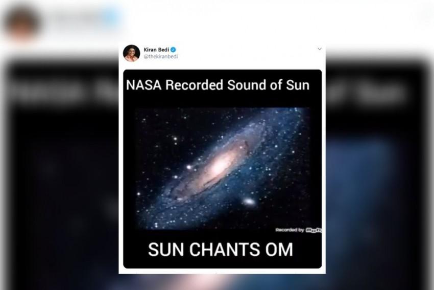 Kiran Bedi Shares Video Of Sun Chanting <em>Om</em>. But It Is Fake