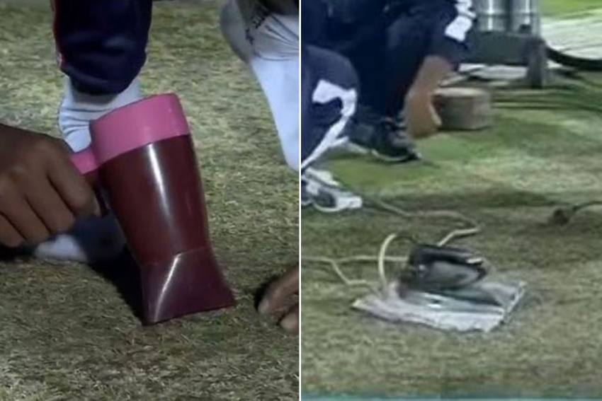 IND Vs SL, 1st T20I: World's Richest Cricket Board Uses Hair Dryer And Steam Iron - Angry Fans Slam BCCI