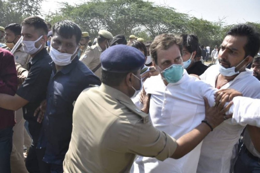 Congress Leader Rahul Gandhi Detained On Way To Hathras