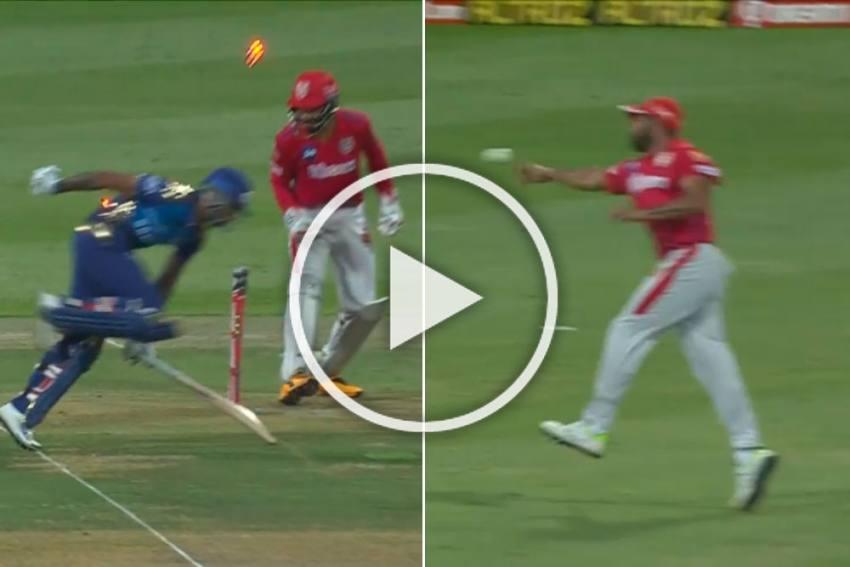 IPL 2020, KXIP Vs MI: Running Mohammed Shami Hits Bullseye To Send Suryakumar Yadav - WATCH