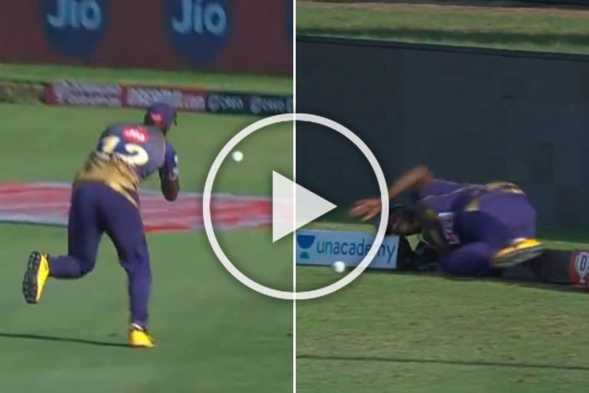 IPL 2020, KKR Vs KXIP: Andre Russell Drops Sitter, Then Injures Himself - WATCH