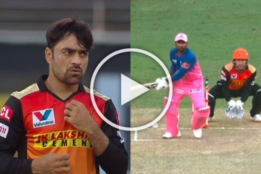 IPL 2020, SRH Vs RR: Rahul Tewatia Demoralises Spin Wizard Rashid Khan - WATCH