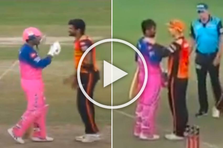 IPL 2020, SRH Vs RR: Rahul Tewatia And Khaleel Ahmed Fight During Hyderabad-Rajasthan Thriller - WATCH