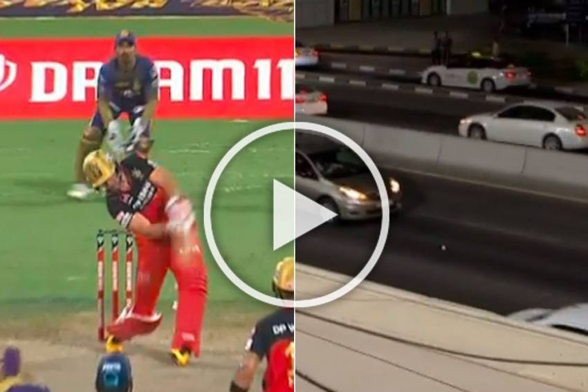 IPL 2020, RCB Vs KKR: Cars Stop As AB De Villiers Sixes Land On Sharjah Street - WATCH