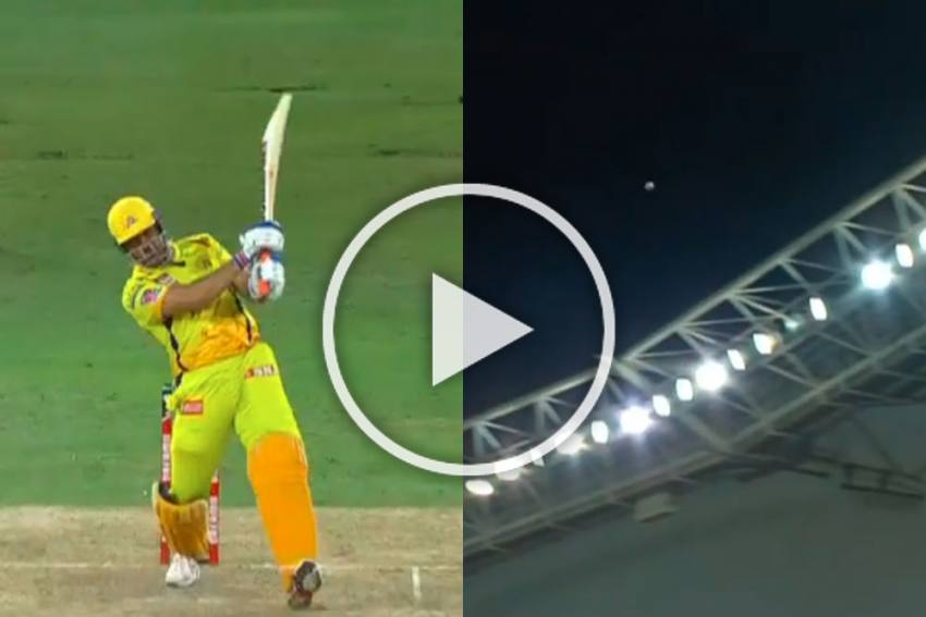 IPL 2020, SRH Vs CSK: MS Dhoni Goes The Distance, And How - WATCH