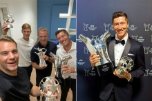 Robert Lewandowski, Hansi Flick Land Top Awards As UEFA Celebrates Bayern Munich Treble Winners