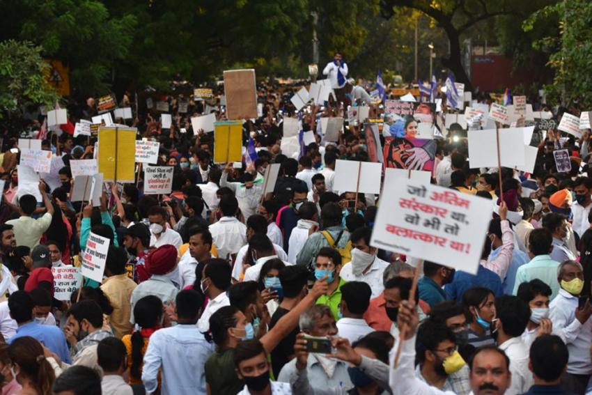 Hathras Case Protest: Hundreds Gather At Delhi's Jantar Mantar, CM Arvind Kejriwal Joins