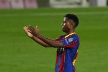 Barcelona's Ansu Fati Continuing To Learn From Lionel Messi After Making Champions League History