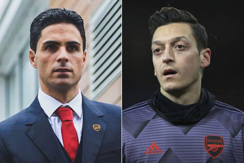 Mikel Arteta's 'Conscience Is Calm' After Leaving Mesut Ozil Out Of Premier League Squad