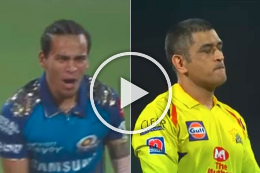 IPL 2020, CSK Vs MI: Legend Killer Rahul Chahar Wins Battle Against MS Dhoni - WATCH