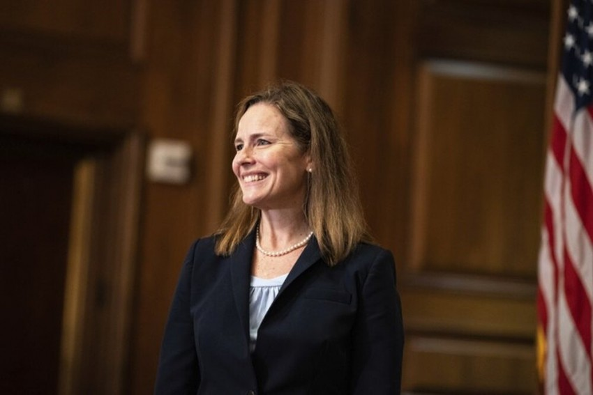 Amy Coney Barrett Takes Oath To Join US Supreme Court