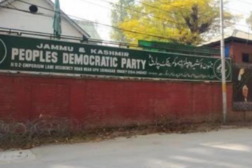 PDP's Srinagar Office Sealed After Protests Against Land Laws