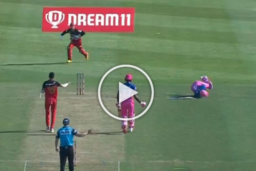 IPL 2020, RCB Vs RR: Rahul Tewatia Hits Navdeep Saini For Massive Sixes After Getting Hit On The Chest - WATCH