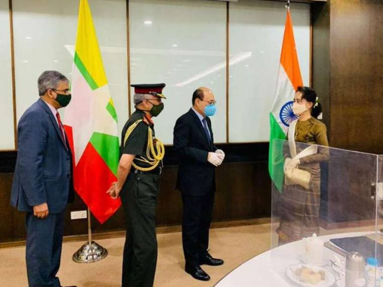 Foreign Secretary, Army Chief Of India Visit Myanmar