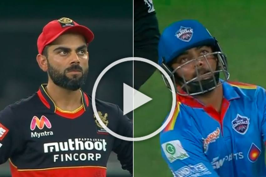 IPL 2020, RCB Vs DC: Prithvi Shaw's Kneel And Hit Six Leaves Virat Kohli Pondering - WATCH