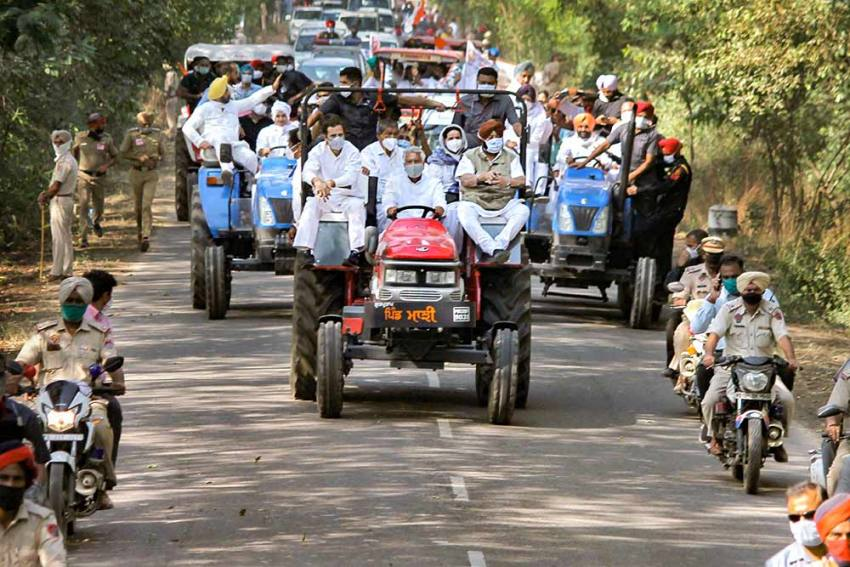 Congress Tractor Rally: Rahul Gandhi Allowed To Enter Haryana After High Drama
