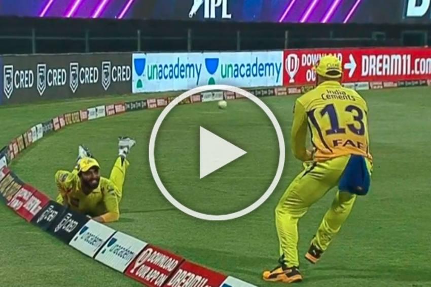 IPL 2020, KKR Vs CSK: Ravindra Jadeja, Faf Du Plessis Pull Off Most Stunning Catch - WATCH