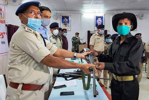 27 Naxals Surrender In Chattisgarh's Dantewada District