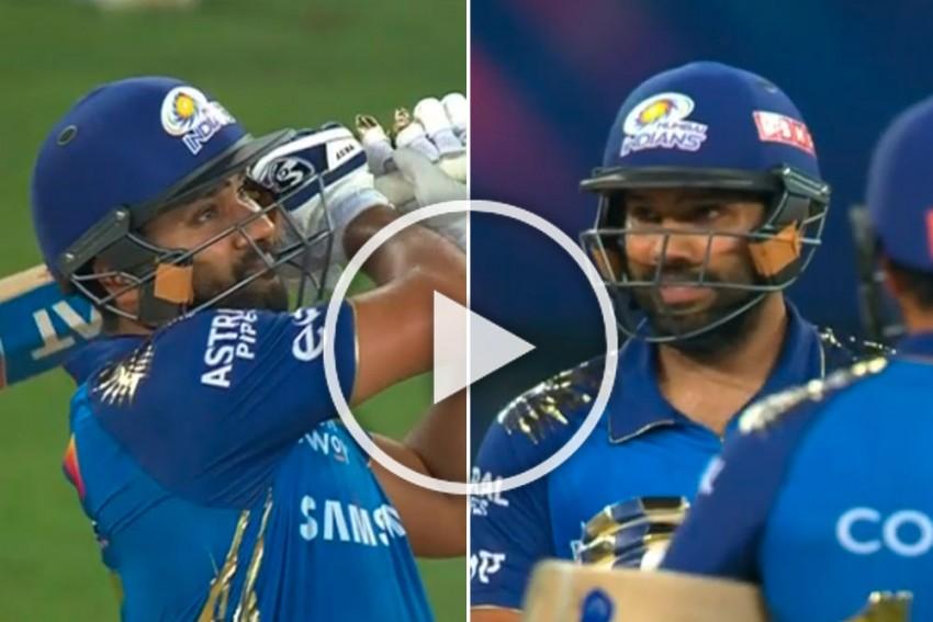 IPL 2020 Final, MI Vs DC: Rohit Sharma Makes Fun Of Anrich Nortje, Hits Outlandish Six - WATCH