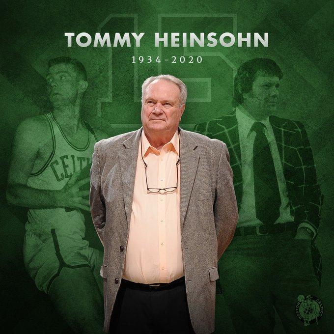 NBA Hall of Famer Tommy Heinsohn, 'Ultimate Celtic,' Dies At 86