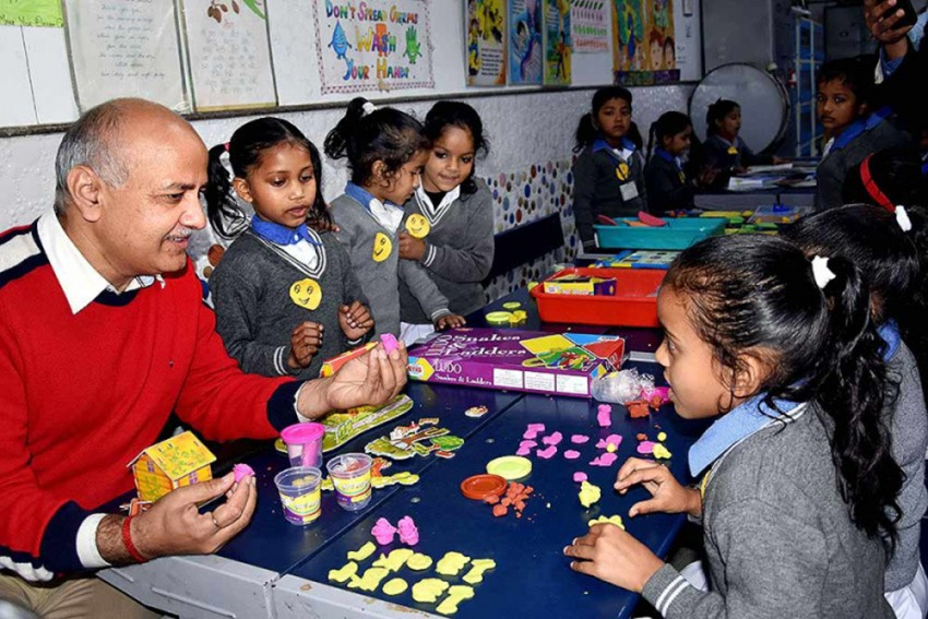 Delhi Govt School Students Turn Teachers For A Day, As Sisodia Attends 'Happiness Class'