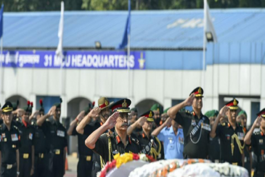 Army Pays Tributes To Soldiers Killed Due To Pakistani Ceasefire Violations