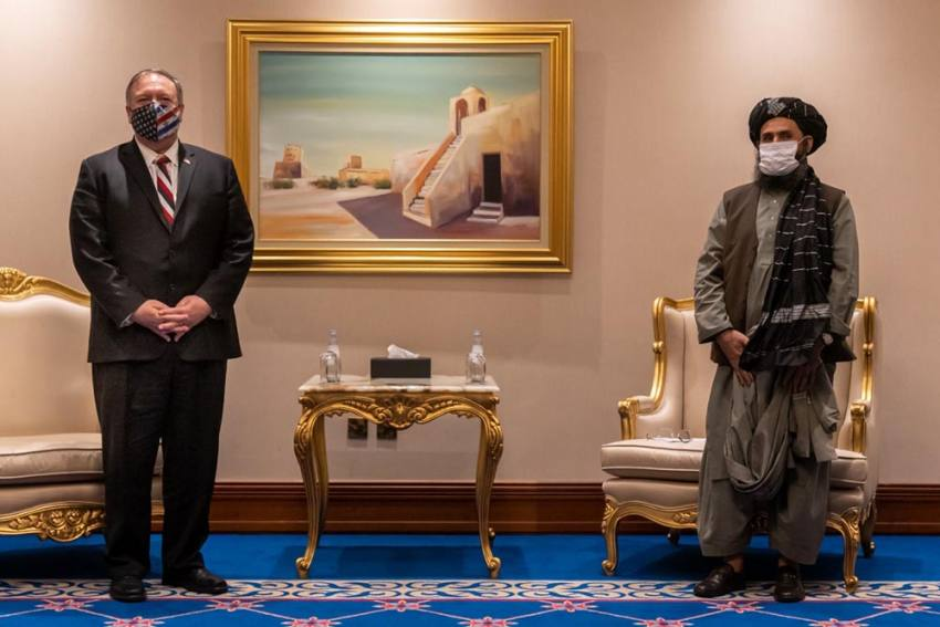 Mike Pompeo Meets Afghan Government Officials, Taliban Representatives In Doha